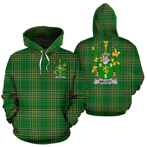 Melody or O'Moledy Ireland Hoodie Irish National Tartan (Pullover) | Women & Men | Over 1400 Crests