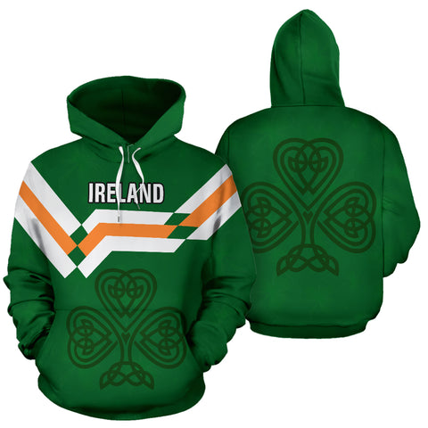 Image of Ireland Hoodie Celtic shamrock - Football Style Ver.02