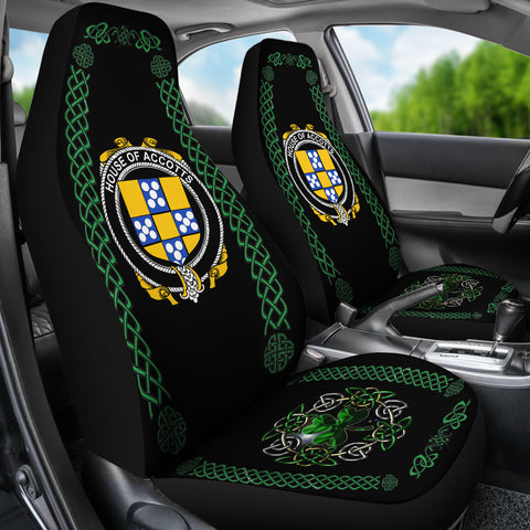 Accotts Ireland Shamrock Celtic Irish Surname Car Seat Covers TH7