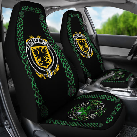 Browne Ireland Shamrock Celtic Irish Surname Car Seat Covers TH7