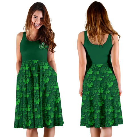 Ireland Women's Dress Pattern Shamrock St. Patrick's Day