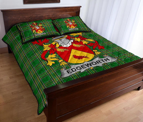 Image of Edgeworth Ireland Quilt Bed Set Irish National Tartan | Over 1400 Crests | Home Set | Bedding Set
