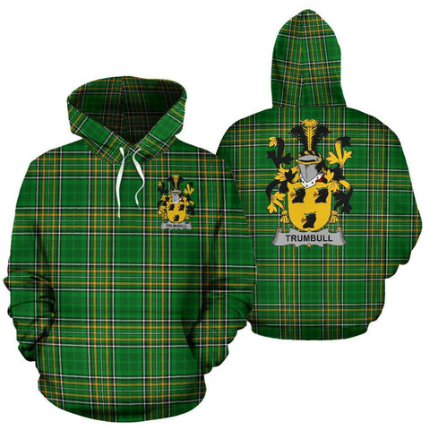Image of Trumbull or Turnbull Ireland Hoodie Irish National Tartan (Pullover) | Women & Men | Over 1400 Crests