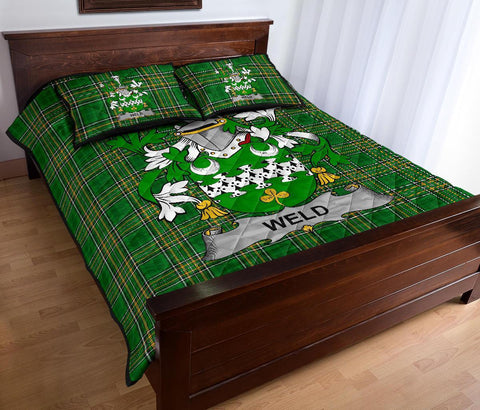 Image of Weld Ireland Quilt Bed Set Irish National Tartan | Over 1400 Crests | Home Set | Bedding Set