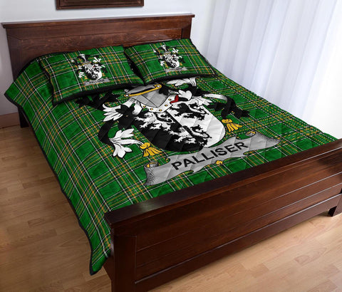 Palliser Ireland Quilt Bed Set Irish National Tartan | Over 1400 Crests | Home Set | Bedding Set