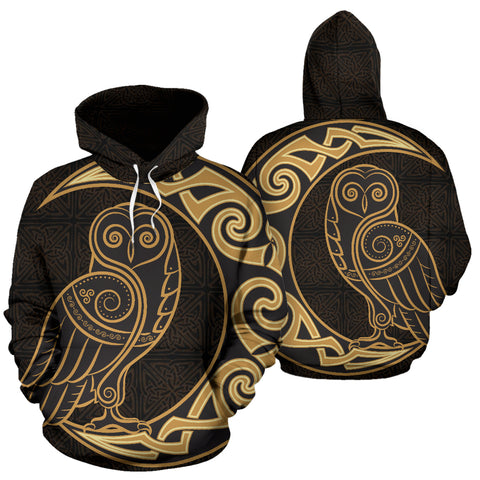 Image of Celtic Owl And The Moon™ - Celtic Hoodie TH7
