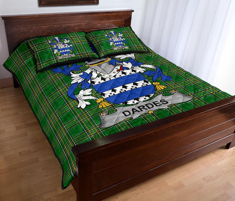 Dardes or Dardis Ireland Quilt Bed Set Irish National Tartan | Over 1400 Crests | Home Set | Bedding Set
