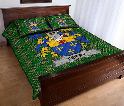 Terry Ireland Quilt Bed Set Irish National Tartan | Over 1400 Crests | Home Set | Bedding Set