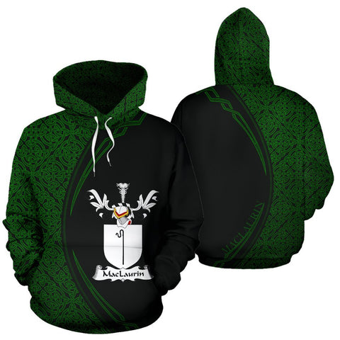 MacLaurin or McLaurin Family Crest Hoodie Irish Circle Style Hj4