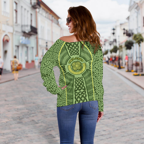 Irish Celtic Off Shoulder Sweater K5