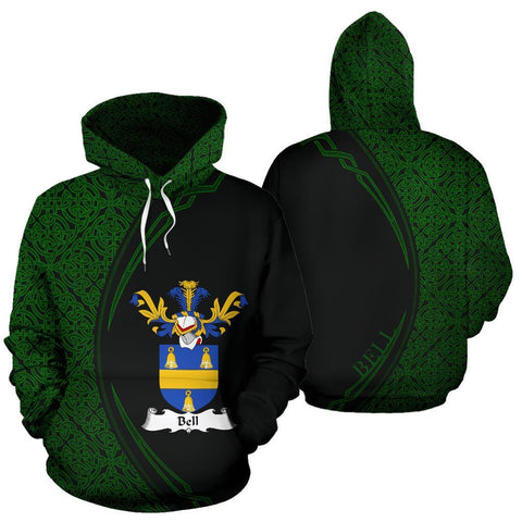 Bell Family Crest Hoodie Irish Circle Style Hj4