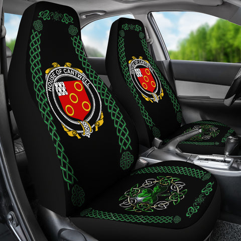 Cantwell Ireland Shamrock Celtic Irish Surname Car Seat Covers TH7