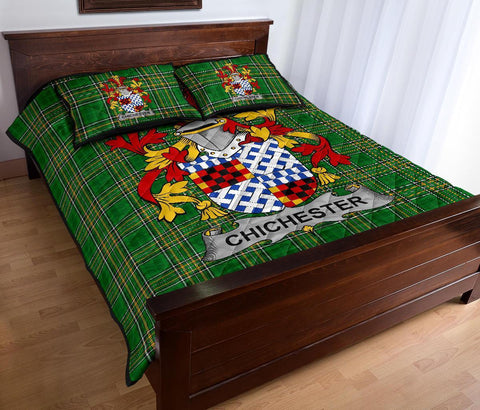 Chichester Ireland Quilt Bed Set Irish National Tartan | Over 1400 Crests | Home Set | Bedding Set