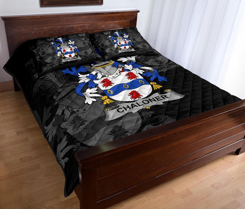 Irish Quilt Bed Set, Chaloner Family Crest Premium Quilt And Pillow Cover A7