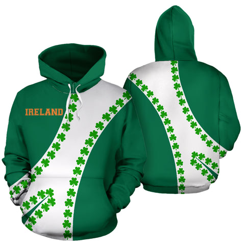 Image of Ireland Hoodie Patterns Shamrock - Sports Style 02