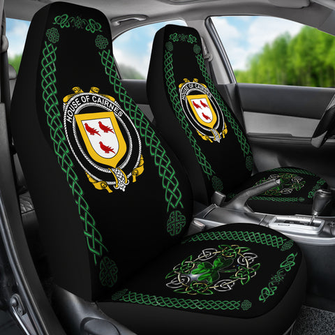 Image of Cairnes Ireland Shamrock Celtic Irish Surname Car Seat Covers TH7