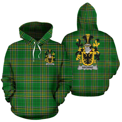 Browne Ireland Hoodie Irish National Tartan (Pullover) | Women & Men | Over 1400 Crests