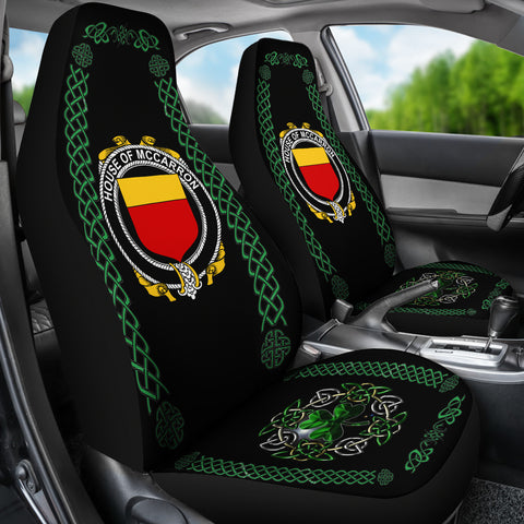 McCarron Ireland Shamrock Celtic Irish Surname Car Seat Covers TH7