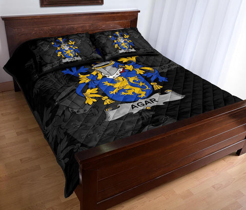 Irish Quilt Bed Set, Agar Family Crest Premium Quilt And Pillow Cover A7