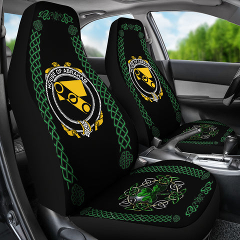 Abraham Ireland Shamrock Celtic Irish Surname Car Seat Covers TH7