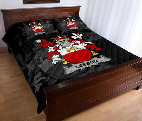 Irish Quilt Bed Set, Leeson Family Crest Premium Quilt And Pillow Cover A7