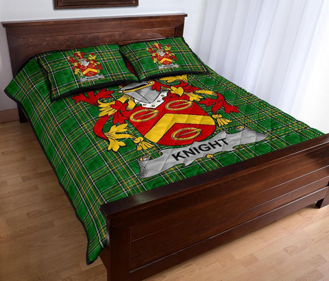 Image of Knight Ireland Quilt Bed Set Irish National Tartan | Over 1400 Crests | Home Set | Bedding Set