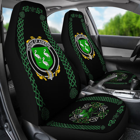 Aherne or Mulhern Ireland Shamrock Celtic Irish Surname Car Seat Covers TH7