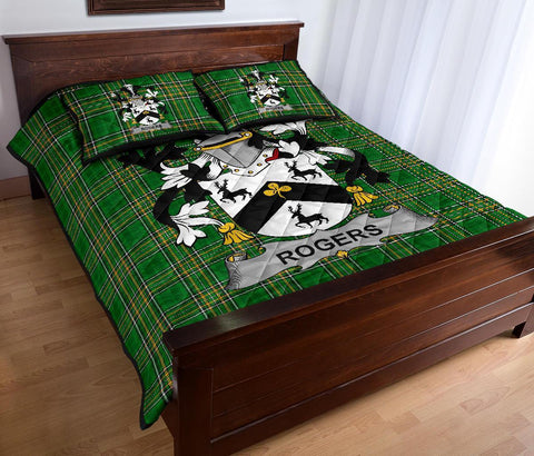 Rogers Ireland Quilt Bed Set Irish National Tartan | Over 1400 Crests | Home Set | Bedding Set