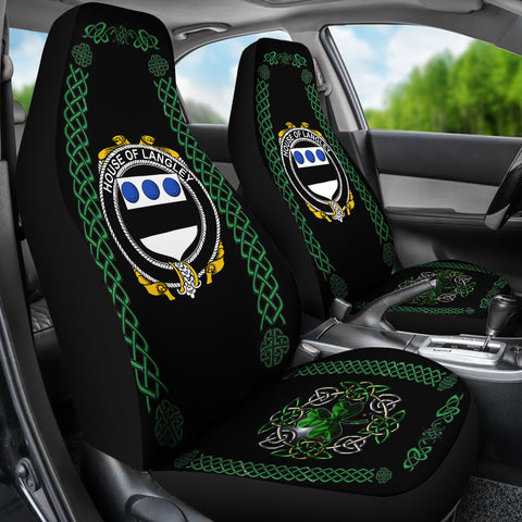 Langley Ireland Shamrock Celtic Irish Surname Car Seat Covers TH7