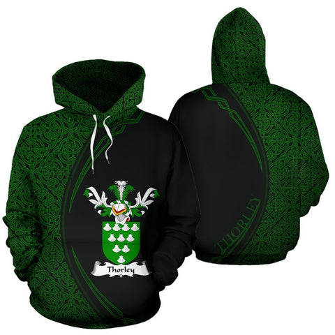 Image of Thorley Family Crest Hoodie Irish Circle Style Hj4
