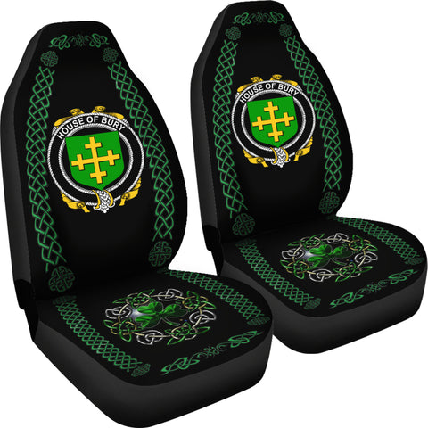 Image of Bury or Berry Ireland Shamrock Celtic Irish Surname Car Seat Covers TH7