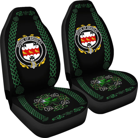 Image of Bradley Ireland Shamrock Celtic Irish Surname Car Seat Covers TH7