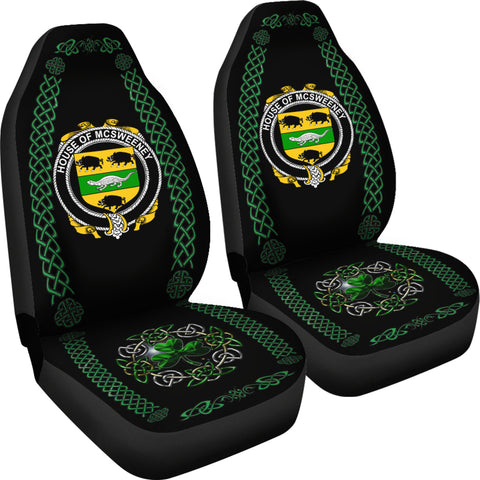 McSweeney Ireland Shamrock Celtic Irish Surname Car Seat Covers TH7