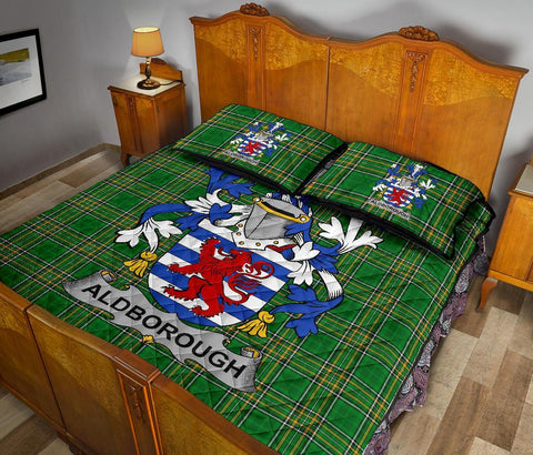 Aldborough Ireland Quilt Bed Set Irish National Tartan | Over 1400 Crests | Home Set | Bedding Set