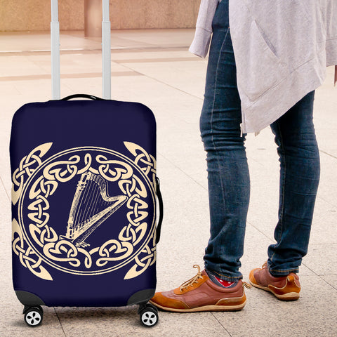 Irish Harp with Celtic Circle Luggage Cover