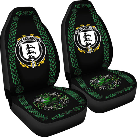Lovett Ireland Shamrock Celtic Irish Surname Car Seat Covers TH7