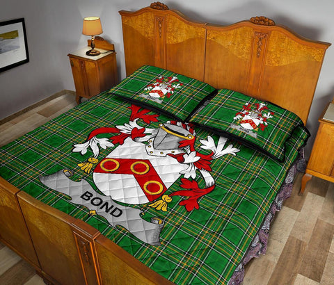 Bond Ireland Quilt Bed Set Irish National Tartan | Over 1400 Crests | Home Set | Bedding Set