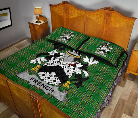 Image of French Ireland Quilt Bed Set Irish National Tartan | Over 1400 Crests | Home Set | Bedding Set