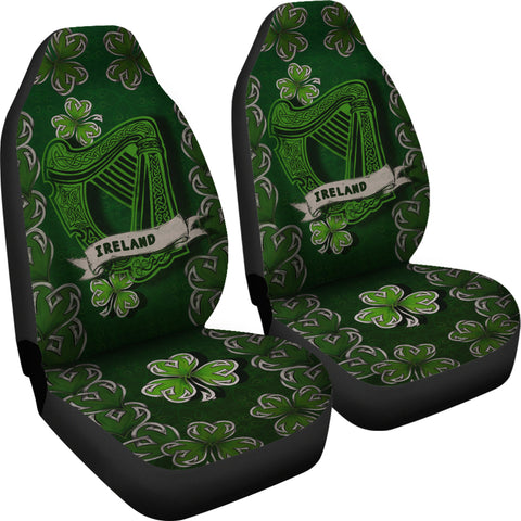 Irish Harp Car Seat Covers - Dark Green Color 4
