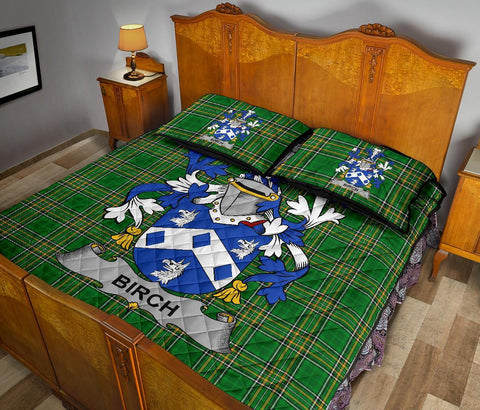 Image of Birch Ireland Quilt Bed Set Irish National Tartan | Over 1400 Crests | Home Set | Bedding Set