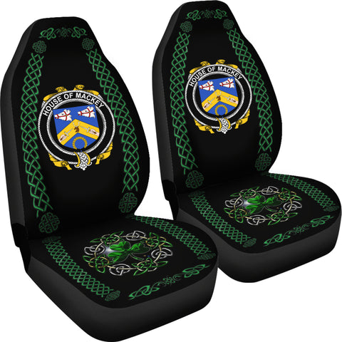 Mackey Ireland Shamrock Celtic Irish Surname Car Seat Covers TH7