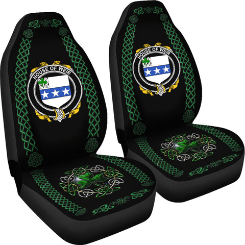 Image of Weir or McWeir Ireland Shamrock Celtic Irish Surname Car Seat Covers TH7