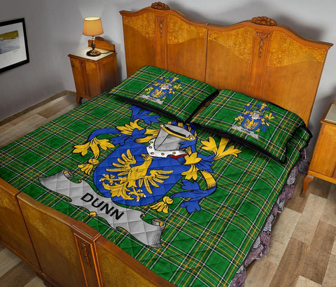 Dunn or O'Dunn Ireland Quilt Bed Set Irish National Tartan | Over 1400 Crests | Home Set | Bedding Set