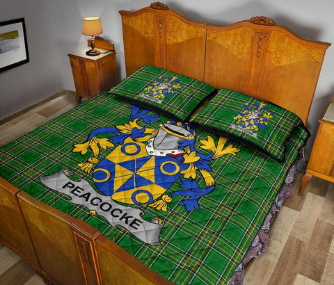 Image of Peacocke Ireland Quilt Bed Set Irish National Tartan | Over 1400 Crests | Home Set | Bedding Set