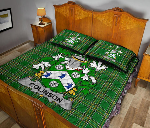 Colinson Ireland Quilt Bed Set Irish National Tartan | Over 1400 Crests | Home Set | Bedding Set