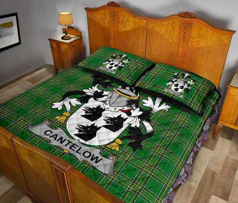 Image of Cantelow (e) Ireland Quilt Bed Set Irish National Tartan | Over 1400 Crests | Home Set | Bedding Set