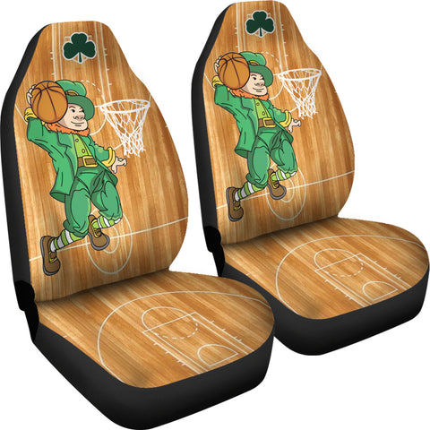 Image of St. Patrick Leprechaun Dunking Car Seat Covers - Set of 2 - Universal Fit TH7