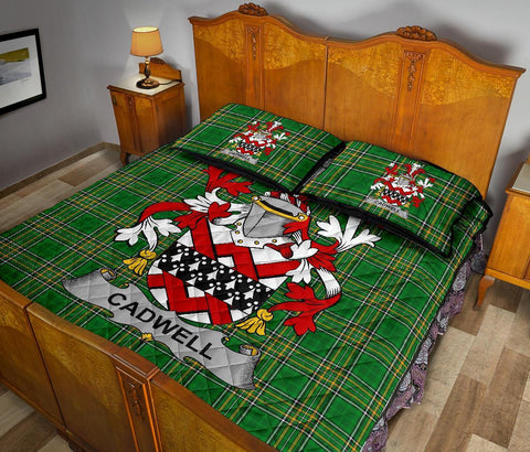 Image of Cadwell or Caddell Ireland Quilt Bed Set Irish National Tartan | Over 1400 Crests | Home Set | Bedding Set