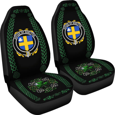 Shelton Ireland Shamrock Celtic Irish Surname Car Seat Covers TH7