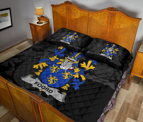 Irish Quilt Bed Set, Foord Family Crest Premium Quilt And Pillow Cover A7